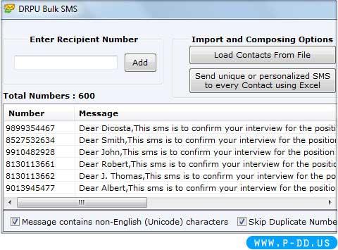 Bulk SMS Utility