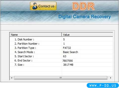 Digital Camera Restoration Tool screen shot