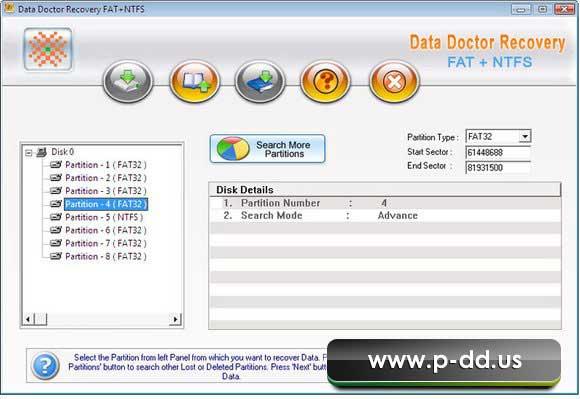 Windows Vista Data Recovery Tool screen shot